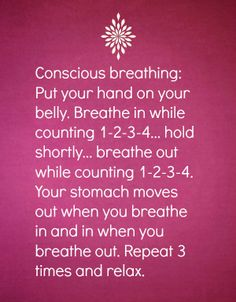 Relaxation tip no. 18