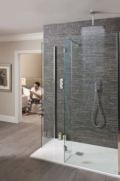 Operate your bath or shower digitally before you step in - Elite Digital Shower Pack from Crosswater.