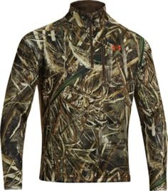 Stay in the field longer no matter what Mother Nature throws at you with this camo 1/4-zip pullover from Under Armour in Realtree MAX-5® camo. #Realtreecamo