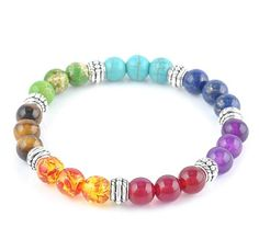 The 7 Chakras SP Stones Bracelet