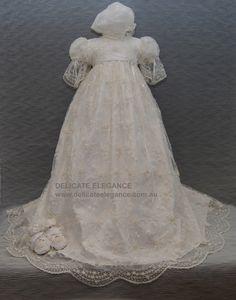 4245: Girls' 100% Silk Christening Gown