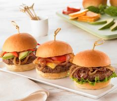 Caramelized Onion Butter Burgers - cooked in a skillet and topped sweet caramelized onions.