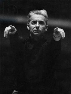 Herbert von Karajan - portrait of the Austrian conductor, Salzburg, Austrian conductor, 5 April 1908 - 16 July Herbert Von Karajan, History Images, Art History, Berlin, Vienna Philharmonic, Plus Belle, Abstract Landscape Painting, Conductors, World War Two