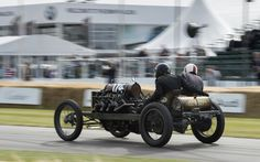 Goodwood Festival of Speed 2015: This V8 Darracq 200HP was clocked at 109.65mph on the public road in 1905. A year later it reached 122.5mph at Daytona Beach