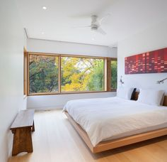 Tree House master bedroom, so fancy you don't realize it is in a tree house.