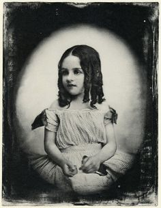 Unidentified Girl with Ringlets, circa 1850's