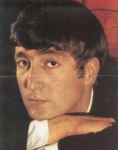 John Lennon, 1963. Sometimes I forget he has eyebrows.