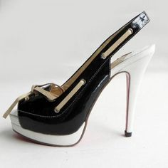 Wow! I am so in love with these shoes!! Christian Louboutin Shoes Black And White 2012