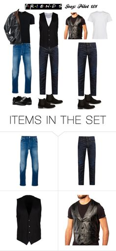 """Friends: 1.01 Joey"" by stargirl234 ❤ liked on Polyvore featuring art, friends, tvshow, Season1 and Joey"