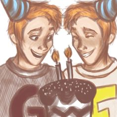 Happy Birthday, Fred and George! by ThatMarauderProngs on DeviantArt