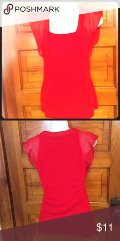 The Limited Red Top Body: 70% Rayon 30% Polyester  Trim: 100% Polyester.     *Never Worn! ⭐️Save 30% by bundling 2 items The Limited Tops Blouses