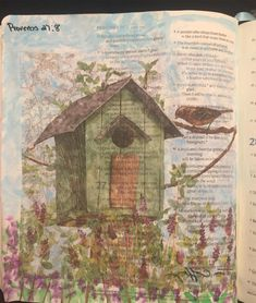 """""""A person who strays from home is like a bird that strays from its nest"""" My Bible, Bible Art, Scripture Verses, Scriptures, Illustrated Faith, Journal Inspiration, Creative Art, Vintage World Maps, Bird"""