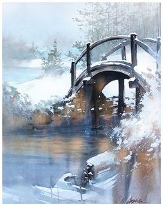 Winter Bridge- Ohio by Thomas
