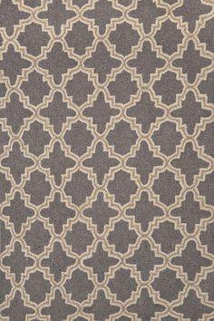#DashAndAlbert (@chartruse in Los Alamitos) Plain Tin Charcoal Wool Micro Hooked Rug 3x5 154.00