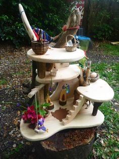 DIY treehouse- I still love these after seeing them for years and even having a similar one for my children, and working in early childhood settings with them, but my true exerience of them is that they don't really get played with very often.....they are not really open ended enough, but where they are good, is for a single child who needs quiet time or time out quiet play....