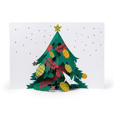 Holiday Tree Holiday Cards - Set of 8 in color Holiday Pops, Holiday Tree, Christmas Tree Cards, Holiday Cards, Pop Up Greeting Cards, 3d Cards, Red Envelope, Graphic Design Inspiration, Merry