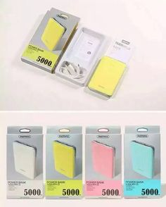 5000mAh power bank with two USB portslim and portable device.