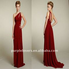 Love this style for the bridesmaids dresses! Red is also a possibility for the color.