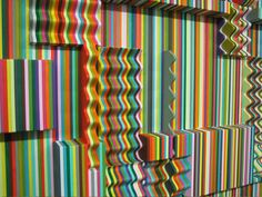 Ara Peterson of Rhode Island ~ 3D optical illusions utilizing repetition in colors and patterns. Using laser cut birch wood and acrylic paint, Ara creates mesmerizing works of art.