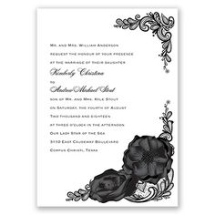 Lasting Love - Wedding Invitation, Roses, Lace, Tattoo, Floral at Invitations By David's Bridal