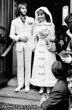 Lulu Marries a Bee Gee - 1969.  Scottish singer Lulu marries Maurice Gibb of the pop group the Bee Gees at the Parish church, Gerrard's Cross in Buckinghamshire.