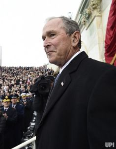 Former US President George W. Bush arrives for the Presidential Inauguration of Donald Trump at the US Capitol in Washington, DC, January…