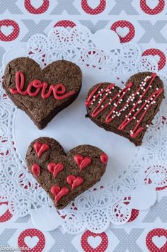 Cupids arrow hits the mark with these heart shaped brownie bites diy valentines day brownie hearts bradiebakes altavistaventures Images