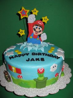 Super Mario Birthday Cake- how perfect would this be?! I want this cake!!!