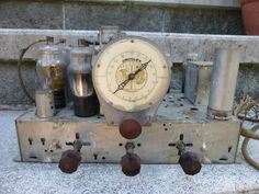 Antique 1935/36 Crosley Model 815 Console Tube Tuner Amplifier Parts Dial Knobs
