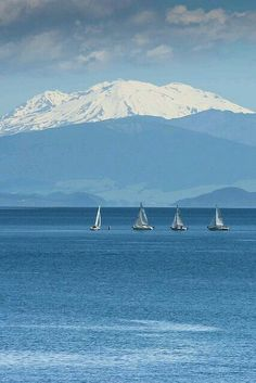 Lake Taupo, New Zealand.