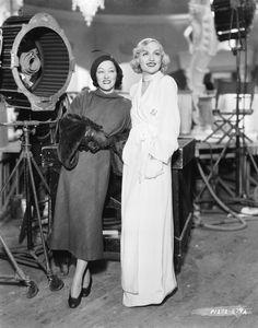 Gloria Swanson and Carole Lombard