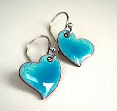 torch enameled hearts!