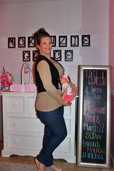 Chalkboard Pregnancy 41 Weeks: aka 1 Week Old