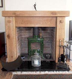Chunky Top Oak Fireplace Surround