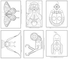 birds-charley-harper-coloring-cards-204.jpg | harper | Pinterest ...