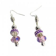 Beautiful Drop Earrings Light Purple