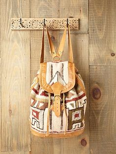 Vintage Alamo Backpack from Free People. Saved to Bags. Shop more products from Free People on Wanelo. Vintage Backpacks, Cute Backpacks, Backpack Bags, Leather Backpack, Bucket Backpack, Tribal Bags, Aztec Bag, Boho Bags, Cute Bags