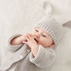 Bernat Knit Baby Jacket Set, Newborn
