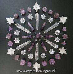77 Crystal Healing Art Crystal Mandala Grid Sacred Geometry