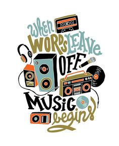 Music Above Words by Jay Roeder, via Flickr