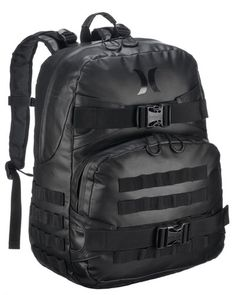 Hurley Surf Black Commander Travel Skate Backpack Mens Back Pack HMN641S12 | eBay
