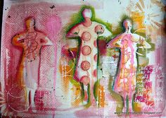 Art inspired by Dina Wakley by thekathrynwheel, via Flickr