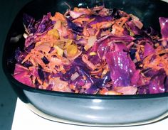 Moroccan Spiced Warm Red Cabbage Salad Recipe #CAREPackageRecipes