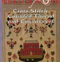 Thread and Canvas Work (Australian Heritage Needlework) grille d'1 beau sampler (KITTY BIGG 1793) explications sur les points de broderie et grilles berlin woolwork etc