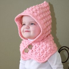 Textured Toddler HoodThis crochet pattern / tutorial is available for free... Full Post: Textured Toddler Hood