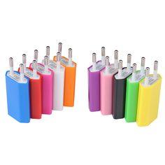ホット販売キャンディタイプeu usb充電プラグ旅行ホームの壁のac充電器プラグ用iphone6 6 s 5 s 7用samsung s6 s7 xiaomi4モビール
