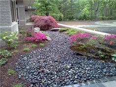 Asian Landscaping Blue Ridge Landscaping Small pink shrubs along bottoms of deck vs dallies Holland, MI Michigan Landscaping, Pebble Landscaping, Small Yard Landscaping, Landscaping Plants, Landscaping Ideas, Asian Landscape, Landscape Elements, Japanese Landscape, Landscape Design