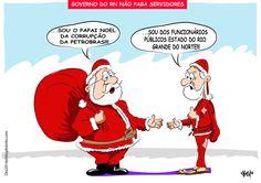 Folha certa : Charge: Papai Noel