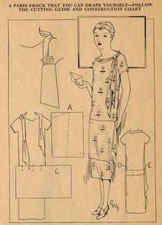 Home Sewing Tips from the 1920s - A Smart Parisian Frock with Cascading Drape | The Midvale Cottage Post | Bloglovin'