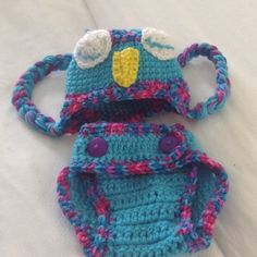 HOST PICK 10/2- crocheted Owl Hat/Diaper Cover set 15% off kids bundles of 3 or more. Great outfit for a child/kid. This Owl diaper cover and hat set.  Can't decide if it is a boy or a girl? This will cover either. Newborn to 4 month old owl hat with ear flaps and braids with matching adjustable diaper cover with 2 buttons. hand crocheted by me.  Prices are listed, so please do not insult my time or work with low ball offers. mara hoskin design Accessories Diaper Covers